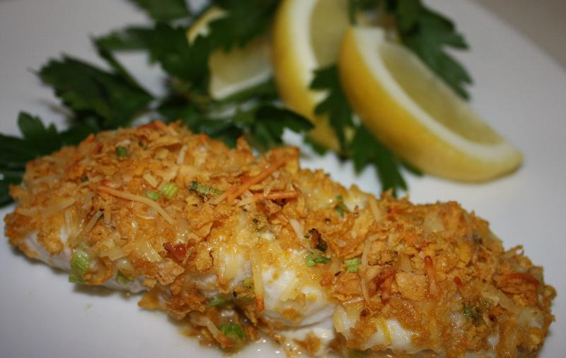 image of baked fish gluten free parm
